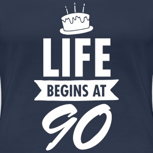 Life Begins At 90 T-shirts - Premium-T-shirt dam