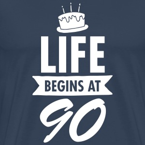 Life Begins At 90 T-skjorter - Premium T-skjorte for menn