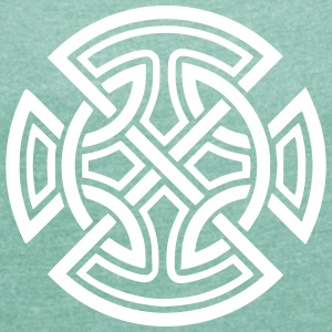 Irish Ornament T-Shirts - Frauen T-Shirt mit gerollten Ärmeln