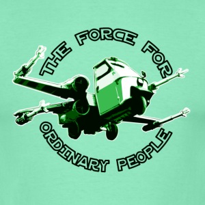 X-wing Ordinary green T-shirts - T-shirt herr