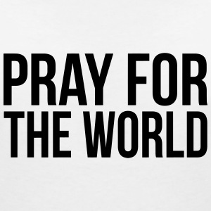 PRAY FOR THE WORLD (PRAY FOR THE WORLD) T-Shirts - Women's V-Neck T-Shirt