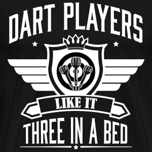 Dart players like it 3 in a bed T-shirts - Premium-T-shirt herr