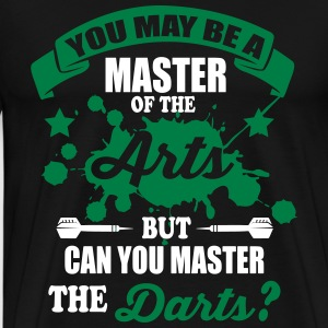 Can you master the darts T-shirts - Herre premium T-shirt
