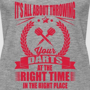 Throw your darts in the right place Tops - Frauen Premium Tank Top