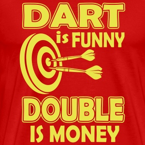 Dart is funny double is money Koszulki - Koszulka męska Premium
