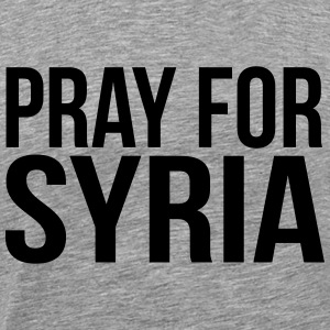 PRAY FOR SYRIA T-skjorter - Premium T-skjorte for menn