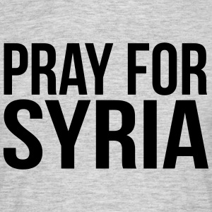 PRAY FOR SYRIA T-shirts - Mannen T-shirt