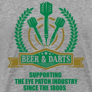 Beer and darts since 1800s T-shirts - Premium-T-shirt herr