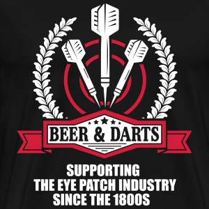 Beer and darts since 1800s T-shirts - Herre premium T-shirt