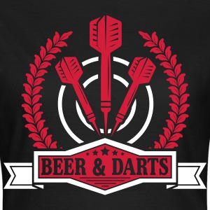 Beer and darts Tee shirts - T-shirt Femme