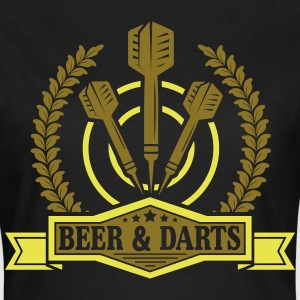 Beer and darts T-shirts - T-shirt dam