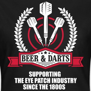 Beer and darts since 1800s T-shirts - Dame-T-shirt