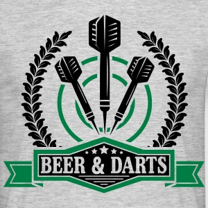 Beer and darts T-shirts - Mannen T-shirt