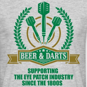 Beer and darts since 1800s T-shirts - T-shirt herr