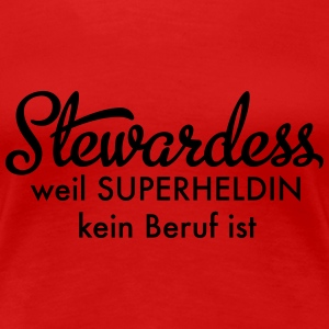 Stewardess T-Shirts - Frauen Premium T-Shirt