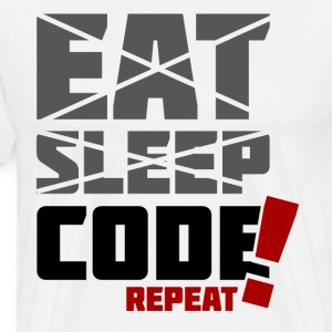 Eat, sleep, code repeat - Koszulka męska Premium
