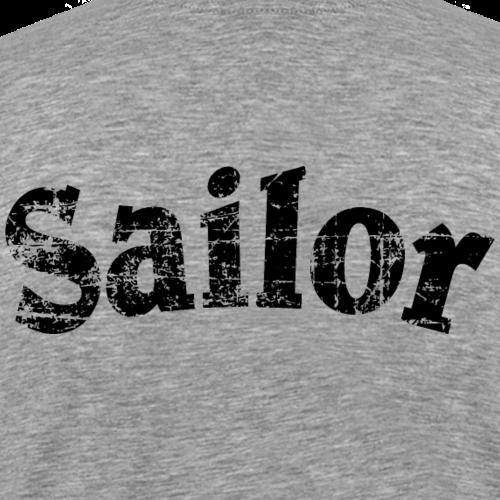 Sailor Vintage Segler Segeln Schwarz