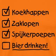 Ontwerp ~ Koningsdag To do list T-shirt