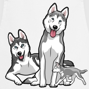 Siberian Husky Family - Cooking Apron