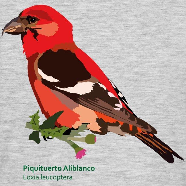 Piquituerto Aliblanco-bird-shirt