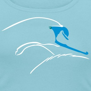 Stilsierter Schwan / swan minimalist (3c) T-Shirts - Women's Scoop Neck T-Shirt