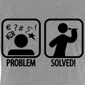 darts problem solved T-Shirts - Women's Premium T-Shirt
