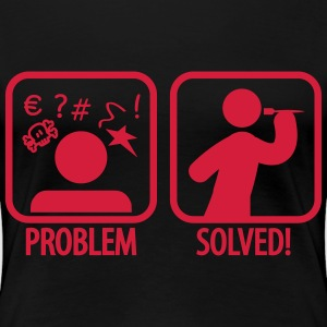 darts problem solved T-shirts - Vrouwen Premium T-shirt