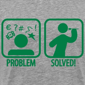 darts problem solved T-Shirts - Men's Premium T-Shirt