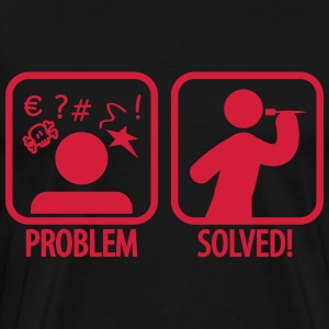 darts problem solved T-shirts - Herre premium T-shirt