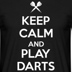 keep calm and play darts T-paidat