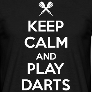 keep calm and play darts T-shirts - Mannen T-shirt