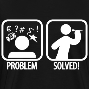darts problem solved T-Shirts - Männer Premium T-Shirt