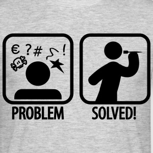 darts problem solved T-shirts - Herre-T-shirt
