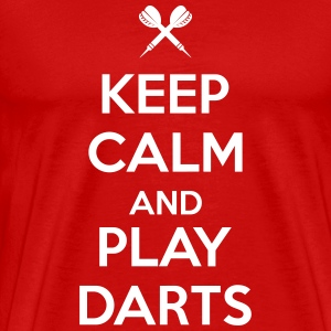 keep calm and play darts Koszulki - Koszulka męska Premium