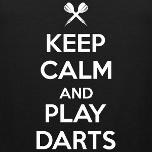 keep calm and play darts Singlets - Premium singlet for menn