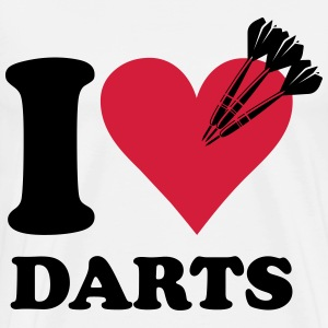 I love darts T-shirts - Mannen Premium T-shirt