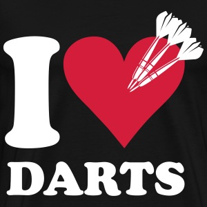I love darts T-skjorter - Premium T-skjorte for menn