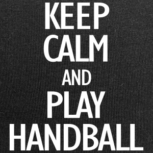 keep calm and play handball Caps & Mützen - Jersey-Beanie