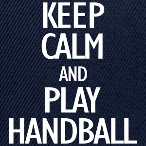 keep calm and play handball Casquettes et bonnets - Casquette snapback