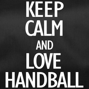keep calm and love handball Bags & Backpacks - Duffel Bag