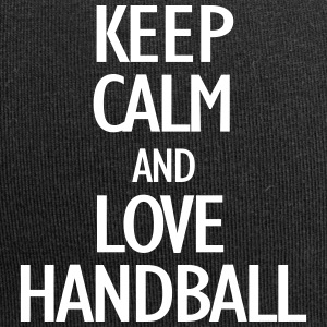 keep calm and love handball Caps & luer - Jersey-beanie