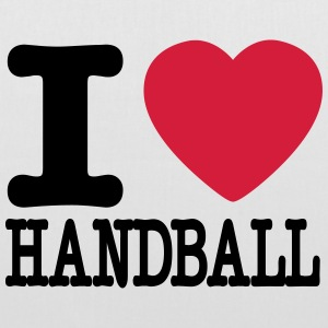 i love handball heart Bags & Backpacks - Tote Bag
