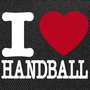 i love handball heart Caps & Hats - Snapback Cap