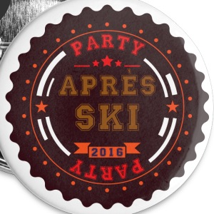 Apres Ski Party Logo Buttons & Anstecker - Buttons klein 25 mm