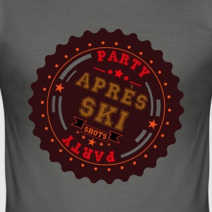 Apres Ski Shots Logo T-Shirts - Männer Slim Fit T-Shirt