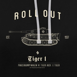 World of Tanks Roll Out Tiger Men Hoodie - Bluza z kapturem z kontrastowymi elementami