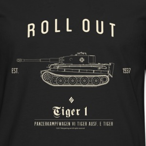 World of Tanks Roll Out Tiger Men Longsleeve - Herre premium T-shirt med lange ærmer