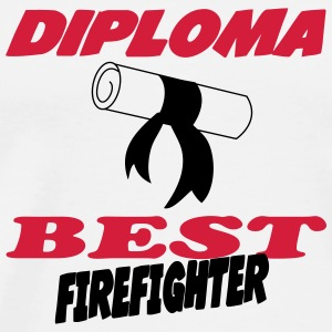 Diploma best firefighter T-shirts - Herre premium T-shirt