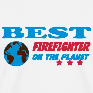 Best firefighter on the planet Camisetas - Camiseta premium hombre