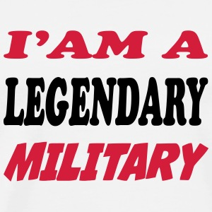 I'am a legendary military T-shirts - Herre premium T-shirt